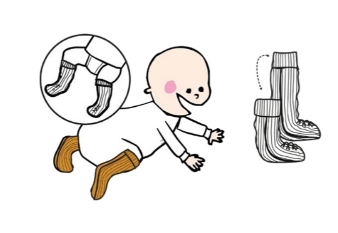 Chaussons bébé long tube ManyMonths - Coloris 2021