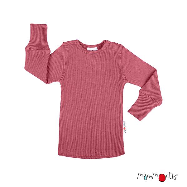 T-shirt manches longues en laine ManyMonths - coloris 2021 Earth Red_1500px-L