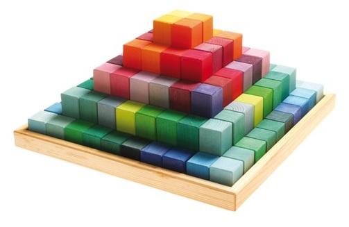 Blokken pyramide GRIMMS