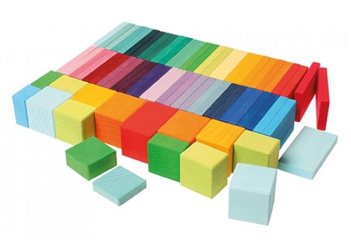 Kleuren plankjes en blokken Regenboog GRIMM\'s