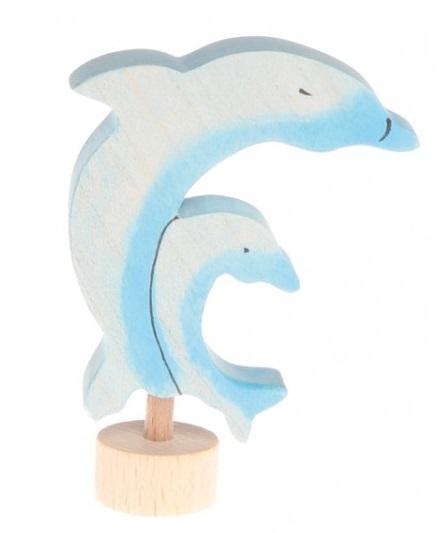 Houten steker Dolfijntjes GRIMM\'s