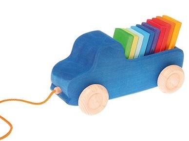 Blauwe auto GRIMM's