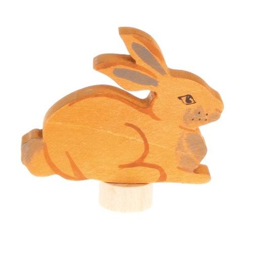 Houten steker Zittend konijn GRIMM\'s