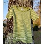 t-shirt-vert-rayé-Cosilana