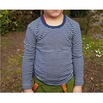 T-shirt-enfant-bleu-rayé-Cosilana