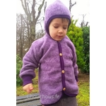 gilet-Laine-violet-Cosilana
