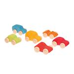 Petites-voitures-en-bois-colorées-Grimms-6-pièces