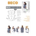 BECO Porte-bambin Geo Teal Blue à partir de 12 kg 6