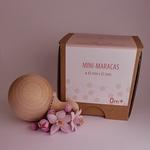 mini maracas avec fleur et packaging