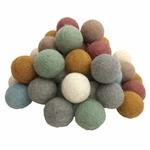 Balles 3,5cm en feutrine Earth - set de 49 Papoose 2