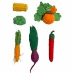 Mini légume en feutrine - Set de 5 Papoose2
