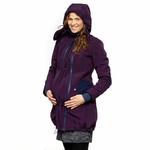 Liliputi Mamacoat manteau de portage et grossesse 4en1 Blue Plum 4