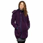 Liliputi Mamacoat manteau de portage et grossesse 4en1 Blue Plum