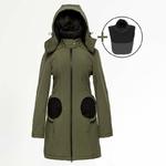 Liliputi Mamacoat manteau de portage et grossesse 4 en 1 Forest Green 10