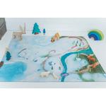 Tapis de jeu Carpeto Etoile des neiges 90 X 60 cm 3