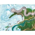 Tapis de jeu Carpeto Etoiles des neiges 120 X 90 cm
