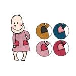 Robe poches coeur en laine ManyMonths - coloris 2021