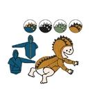 Pull à capuche Dino ManyMonths - coloris 2021