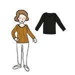 Tee-shirt Femme manches longues en laine MaM - coloris 2021