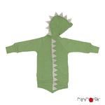 40660_ManyMonths® Natural Woollies Dino Hoodie with Big Pocket UNiQUE  Jade Green_highres2-L