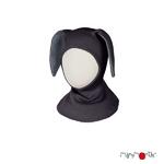 ManyMonths® Natural Woollies Bunny Hood UNiQUE  Foggy Black-L