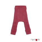 ManyMonths Longie en laine avec genouillère - coloris 2021 Earth Red