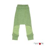ManyMonths Longie en laine avec genouillère - coloris 2021 Jade Green