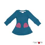 Robe poches coeur en laine ManyMonths - coloris 2021 Mykonos Waters
