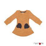 Robe poches coeur en laine ManyMonths - coloris 2021 Honey Bread