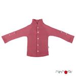 Gilet col boutonné en laine ManyMonths - coloris 2021 Earth Red