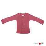 Gilet en laine ManyMonths - coloris 2021 Earth Red