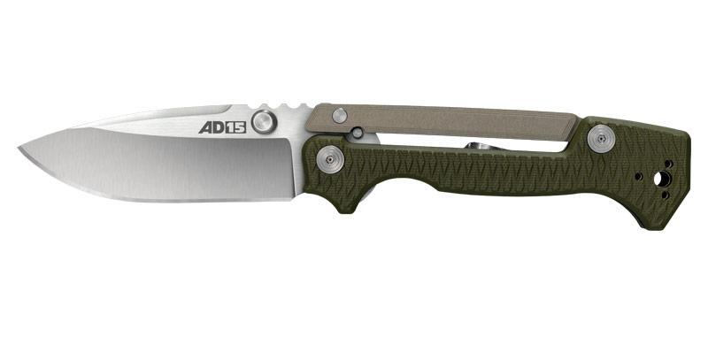 AD-15 - Lame 89mm - Manche G10/Aluminium - Clip réversible