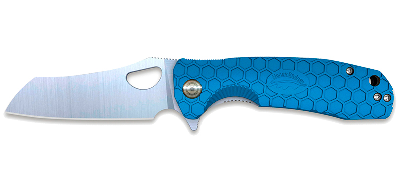 Wharncleaver D2 Large Blue - Lame 90mm - Manche FRN - Clip