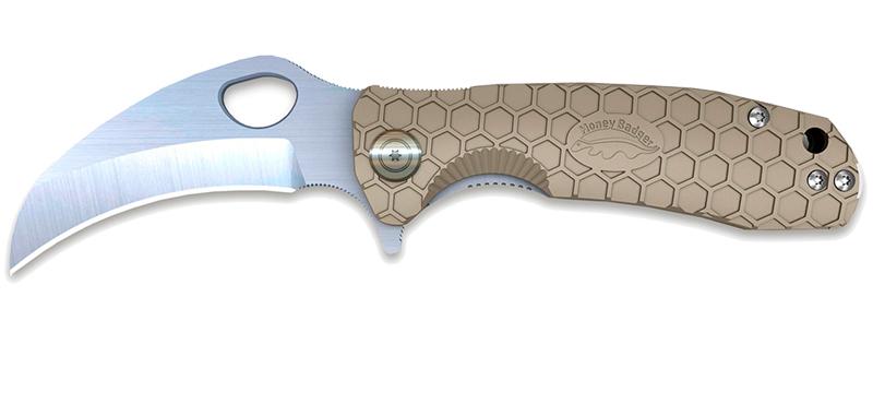 Claw Large Tan Plain - Karambit - Lame 92mm - Manche FRN - Clip