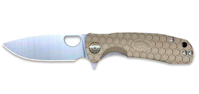 Flipper D2 Large Tan - Lame 92mm - Manche FRN - Clip