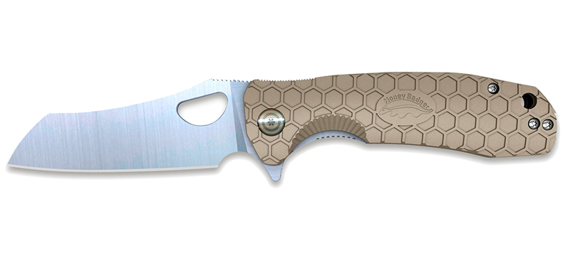 Wharncleaver Large Tan - Lame 90mm - Manche FRN - Clip