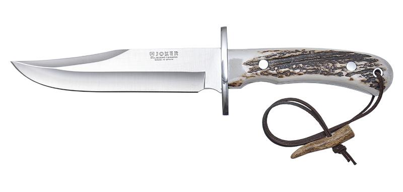 Bowie - Lame 160mm - Manche bois de cerf - Etui cuir