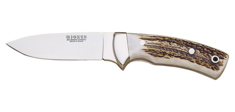 Corzo - Lame 100mm - Manche bois de cerf - Etui cuir