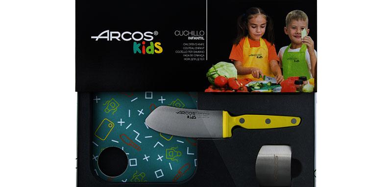 Coffret cuisine enfant jaune - Lame 105mm - Manche POM