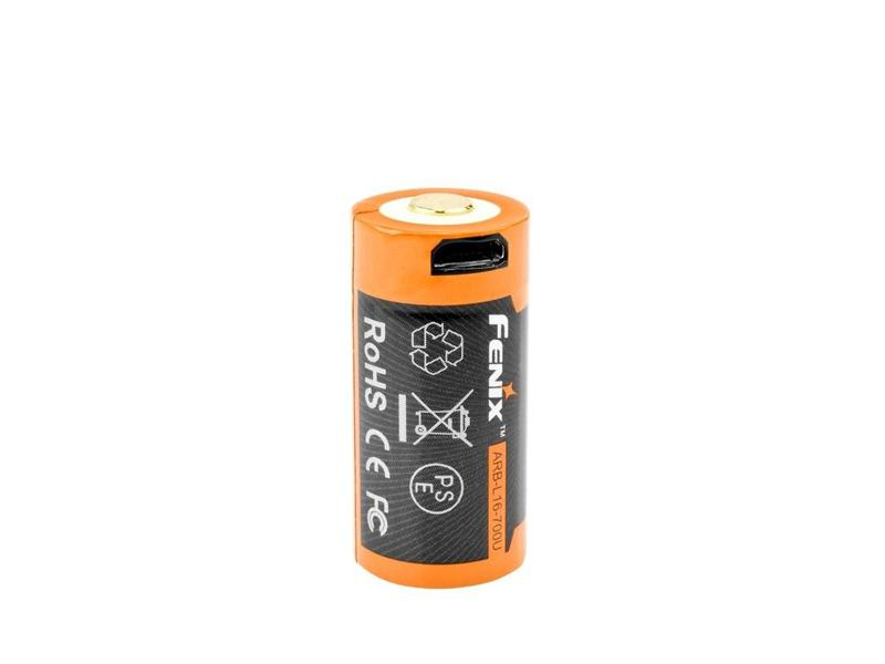 ACCU RECHARGEABLE 16340 3,6V 700mAh MICRO USB