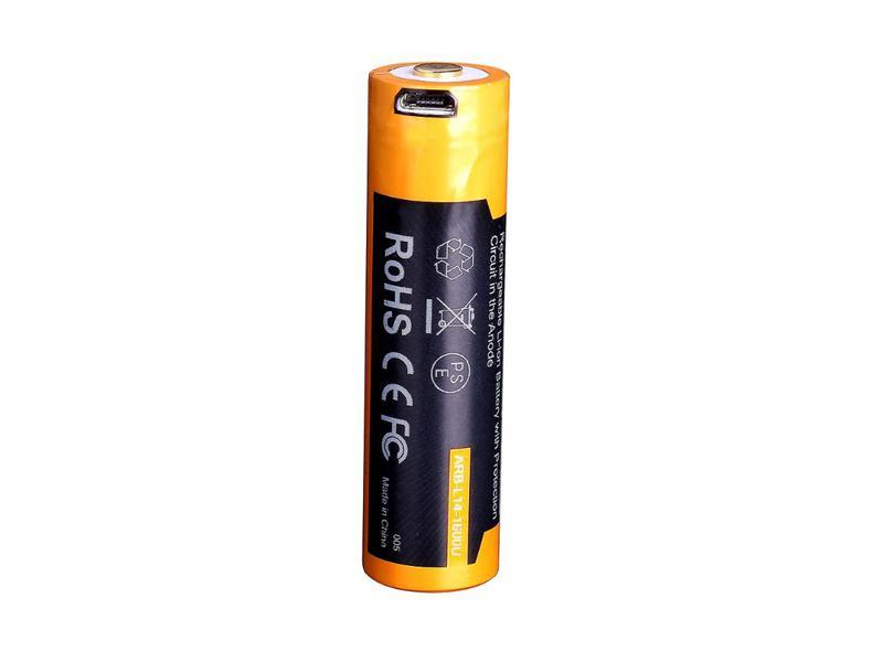 ACCU RECHARGEABLE 18650 3,6V 2600MAH MICRO USB