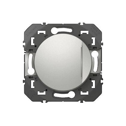 LEGRAND Interrupteur ou va-et-vient avec voyant témoin dooxie 10AX 250V~ finition alu 600109