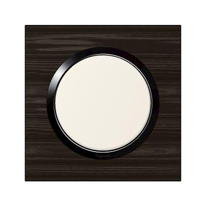 LEGRAND Plaque carrée dooxie 1 poste finition effet bois ébène 600881