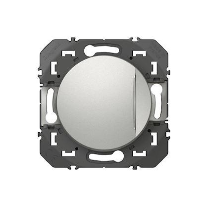 LEGRAND Interrupteur ou va-et-vient avec voyant lumineux dooxie 10AX 250V~ finition alu 600111