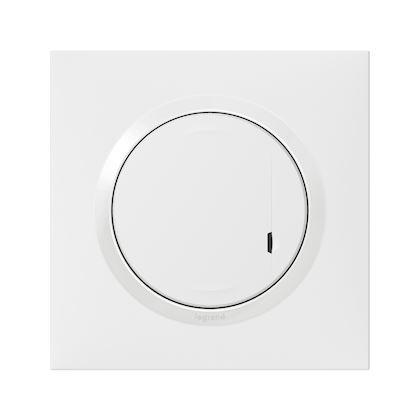 LEGRAND Interrupteur variateur connecté dooxie with Netatmo sans neutre 5W à 300W -blanc 600081