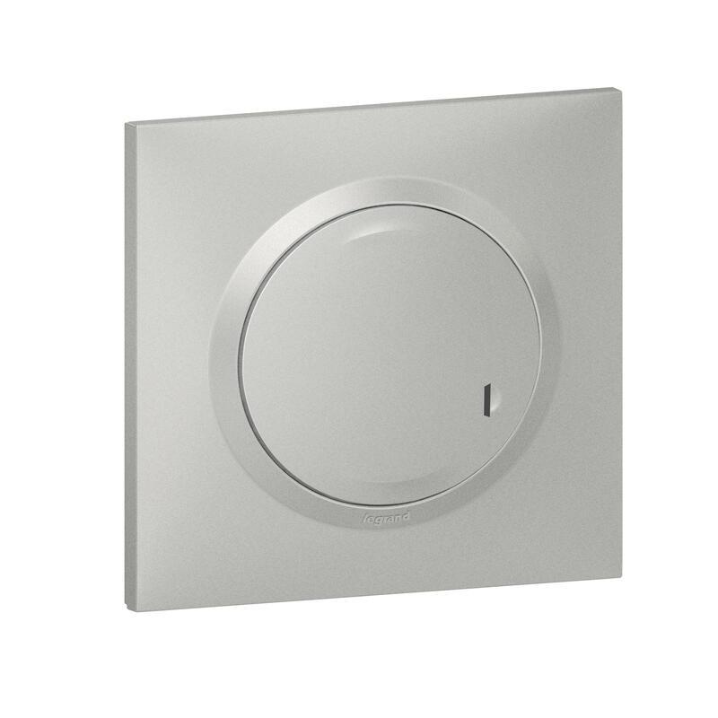 LEGRAND Interrupteur variateur connecté dooxie with Netatmo sans neutre 5W à 300W - alu 600181