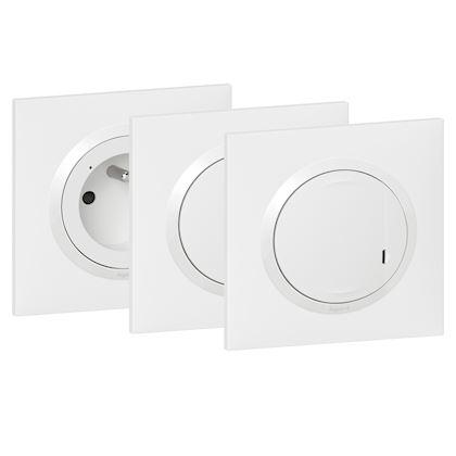 LEGRAND Pack extension dooxie with Netatmo inter + prise connectée + cde sans fil -blanc 600690