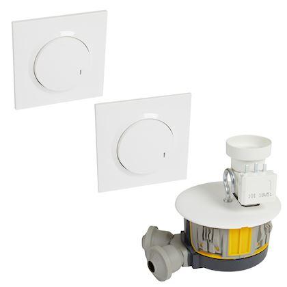 LEGRAND Kit avec 1 DCL radio complet + 2 commandes dooxie sans fil - blanc 088565