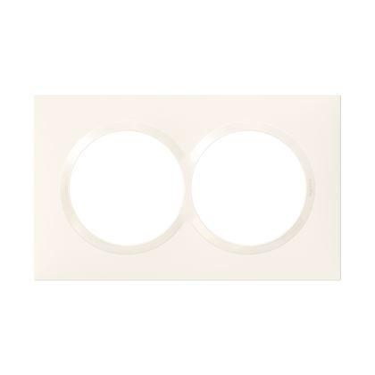 LEGRAND Plaque carrée spéciale dooxie 2 postes avec entraxe 57mm finition blanc 600807