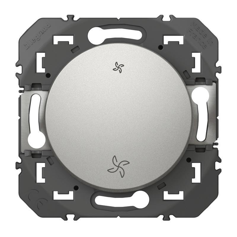 LEGRAND Interrupteur commande VMC dooxie finition alu 600107